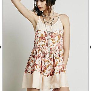 Intimately Free People Floral Strappy Back Slip XS